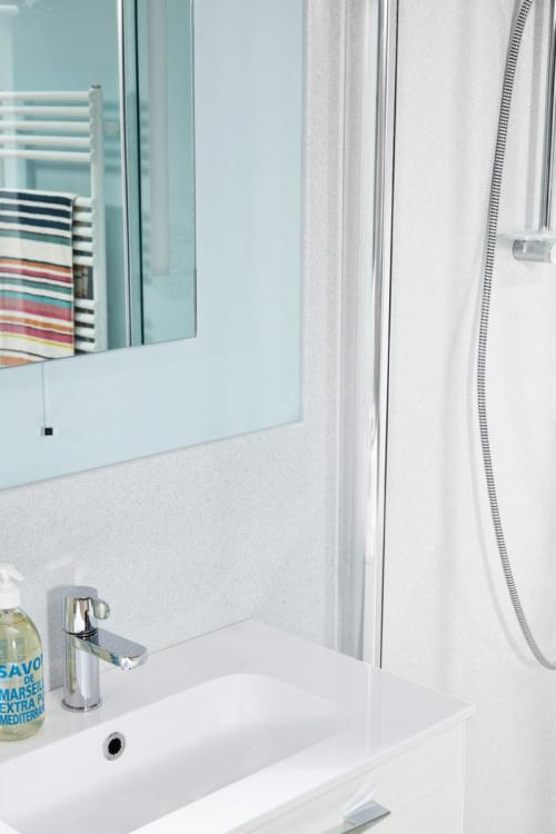 Buy Shower Wall Panel Nuance Ice By Bushboard In Aberdeen At - Public bathroom wall panels